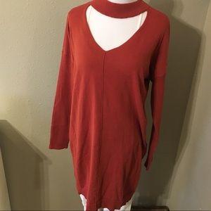 Just Fab Choker Sweater Dress/Tunic
